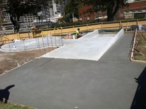 The ramp and patio concrete slabs