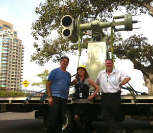 Carey Ward, Toner Stevenson, Geoff Wyatt and the Astrographic telescope