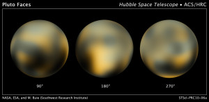 Detailed maps of Pluto's surface were revealed in 2010
