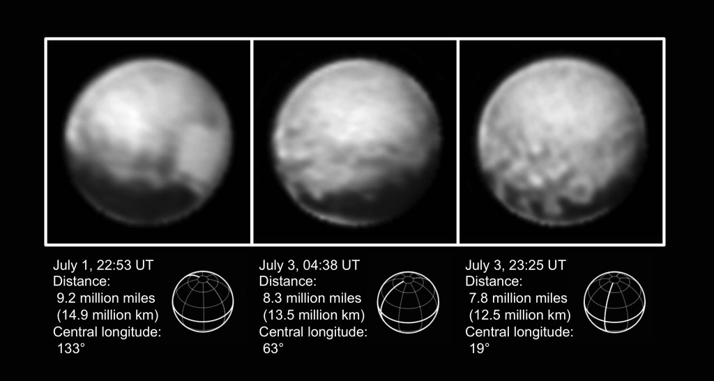 These New Horizons images were released on July 7, 2015