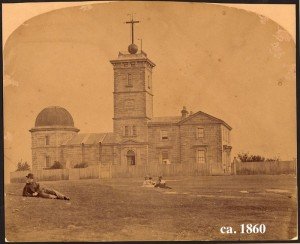 Sydney Observatory in 1860. Image courtesy of the collection of the State Library of NSW.