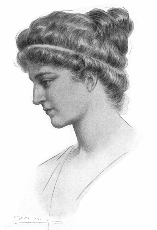 Hypatia Drawn by Jules Maurice Gaspard