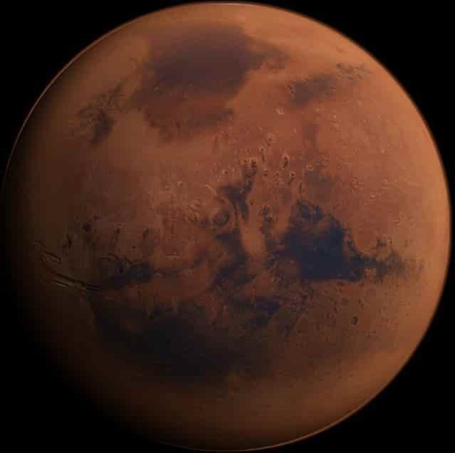 Mars, in all its reddish glory, as it is today. Credit: SpaceX