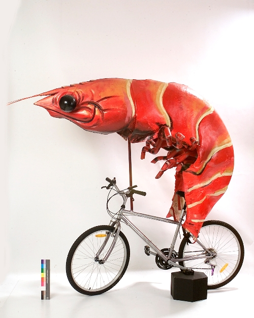 Prawn bike from Sydney Olympics Closing Ceremony, Powerhouse Museum Collection.