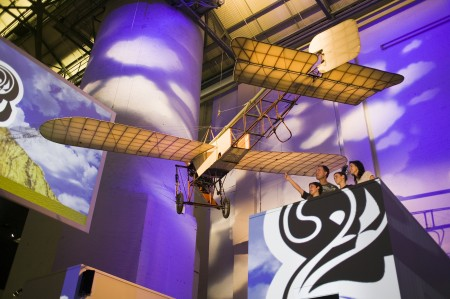The Powerhouse Museum's Bleriot XI monoplane on display