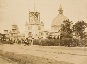 Macquarie Street entrance to the Garden Palace, photographed by Messrs Richards and Company, 1879-1880.
