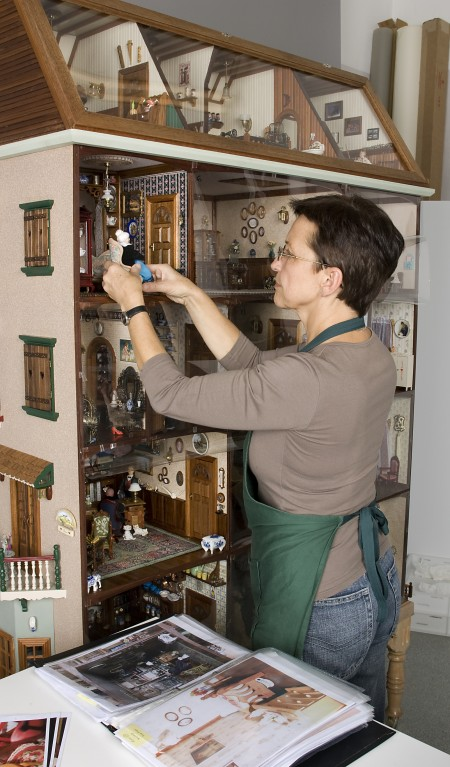 Gosia, the Museum's clever objects conservator, at work!