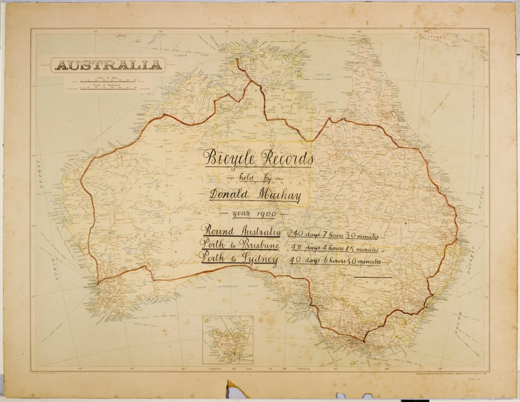 Mckay Australia Map.Cycling Around Australia Inside The Collection