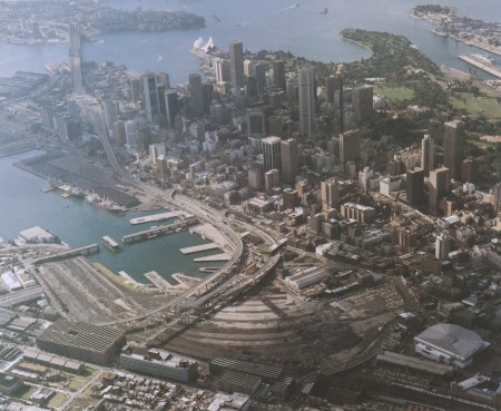 Aerial view of Darling Harbour