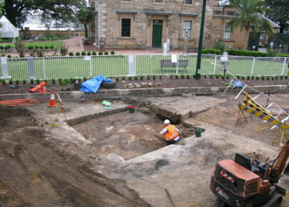 Excavation in progress at Sydney Observatory