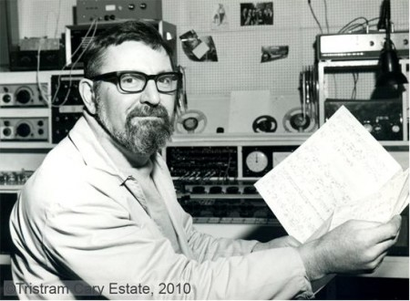 Cary in his Fressingfield studio, with a score