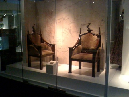 The Lachlan and Elizabeth Macquarie chairs