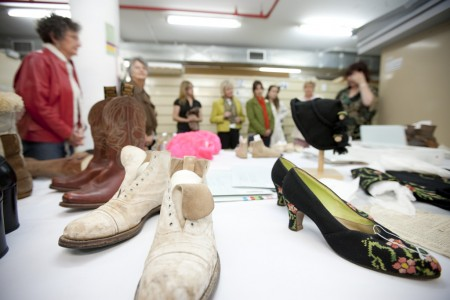 Footwear enthusiasts looking at shoes from the collection
