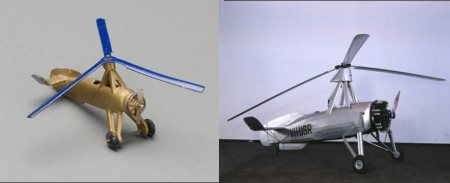 Dinky Cierva Autogiro, 2008/158/1-13 and the full-size Autogiro VH-USR, B2361