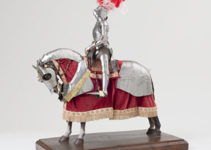 Small model of a knight on a horse