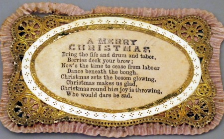 Beautifully gilded and embossed Victorian card
