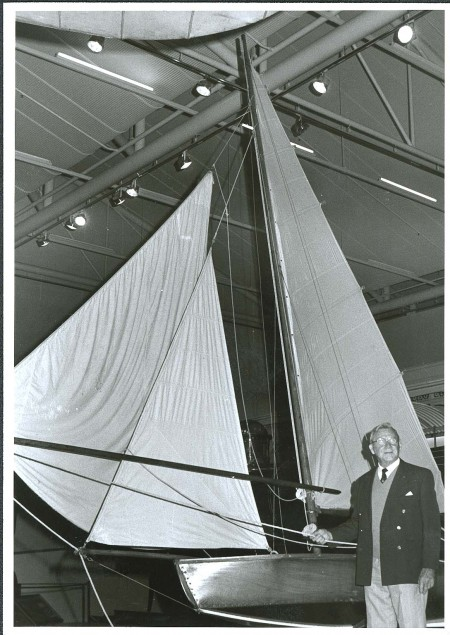 Charles Sparrow with the Museum's VJ in about 1982