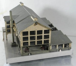 Architectural model of tea factory