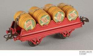 Barrel-wagon, train model