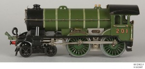 Side view of Bramham-Moor-loco Steam model train