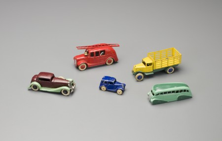 Collection of Dinky toy cars and trucks