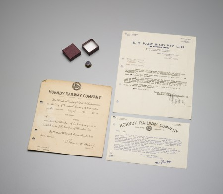 Photographs of the Hornby Railway Company official documentation