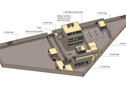 Illustrated floor plan Osama's hideout