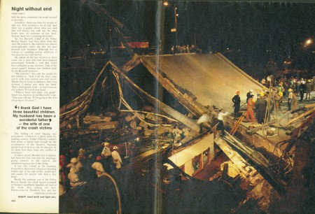 he Australian Women's Weekly Features a 16 page special colour report on Australia's worst train disaster at Granville Station, 2 Feb 1977. Shows photograph taken of the disaster