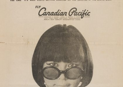 Jenny Kee appearing in a Canadian Pacific advertisement