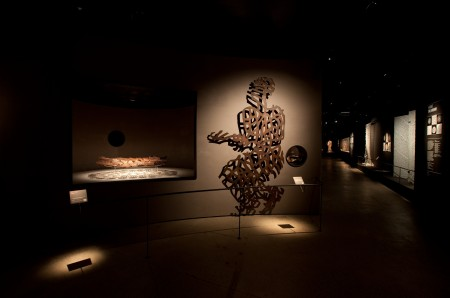 Photograph of Art and shadows from the Love Lace International Lace Award and Exhibition