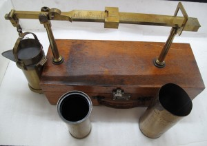 Brass and wood chondrometer