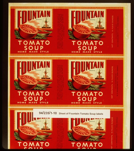 Fountain Tomato Soup packaging design