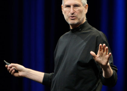 Photograph of Steve jobs co-founder of Apple