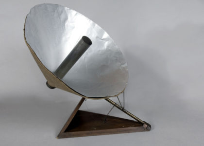 Solar Heater in the form of a dish by Lawence Hargrave