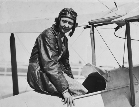 Lores Bonney and her aircraft, My Little Ship, at Archerfield Aerodrome in 1932