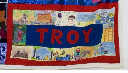 Quilt panel in memory of Troy Lovegood