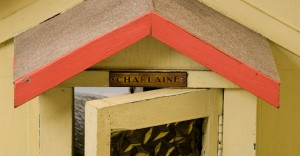 "Detail of dolls house ""Charlaine"" name plate"