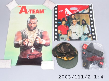 The A-Team showbag and contents 1983
