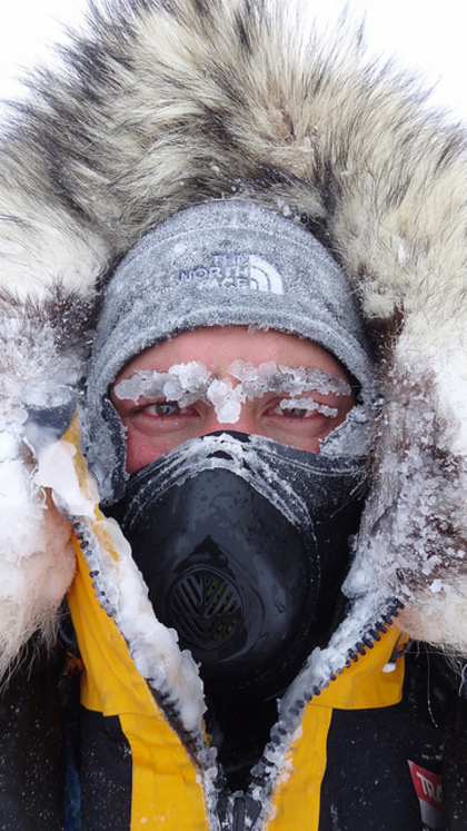Justin Jones on 2011 Antarctic expedition