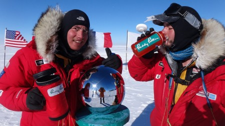 Cas and Jonsey at the South Pole