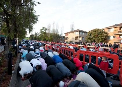 Eid prayers at Lakemba Mosque, 2011