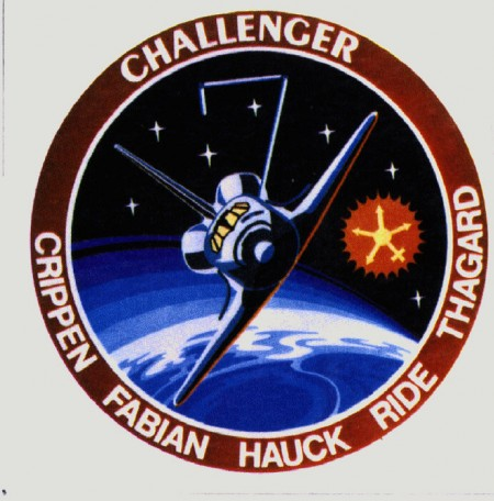 Detail of Sally Ride's mission patch