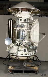 A 1:2 scale model of the Mars 3 spacecraft in the Powerhouse Museum collection.