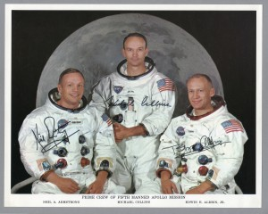Official Apollo 11 signed portrait