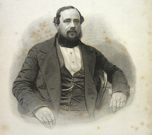 Edward Hargraves, etching from frontispiece of his book, Australia and Its Goldfields, 1855