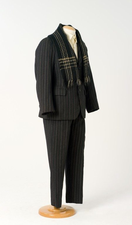 Ted Docker's pinstripe coat, waistcoat, trousers and scarf.