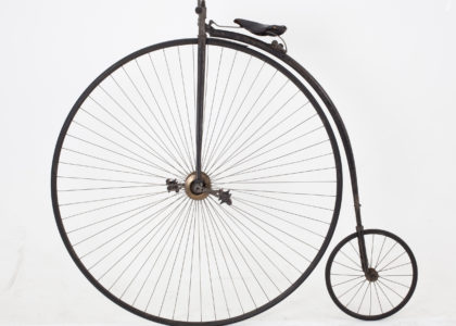Black penny farthing bicycle