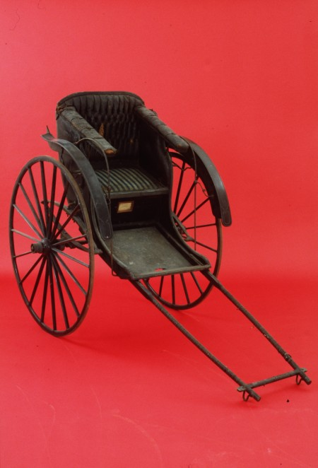 Japanese rickshaw made 1880-1892. Collection of the Powerhouse Museum, Sydney, Australia. H626. Purchased 1892.