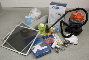Disaster planning - gather materials and equipment that would be useful in a salvage operation