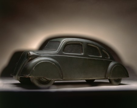 Model, one half of the 'Car of the Future', wood, Charles Frederick Beauvais, England, 1936